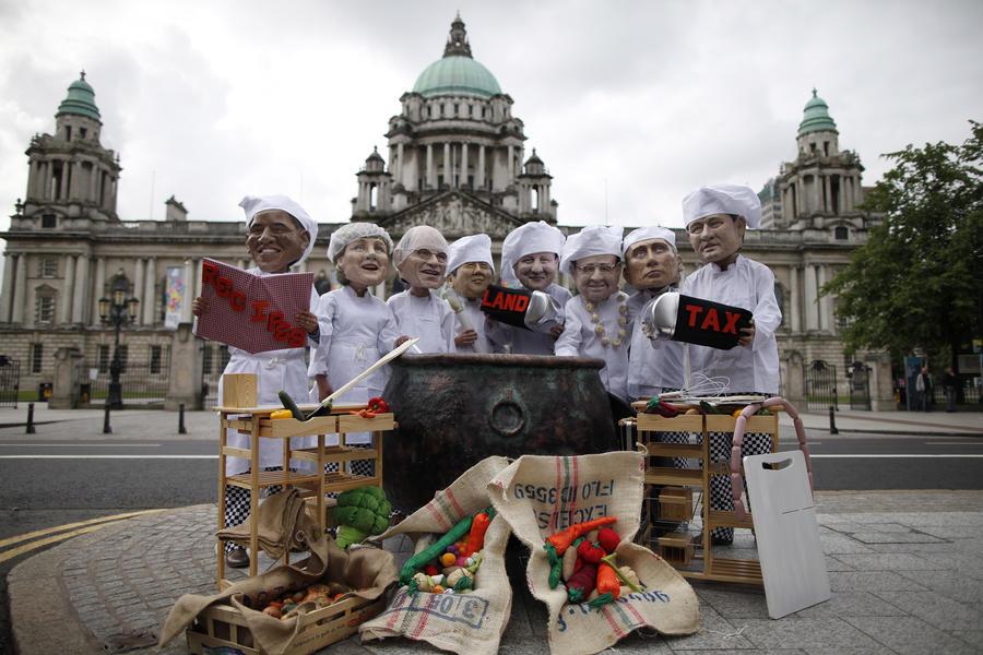 Крабы, говядина и ирландский кофе: прессе стало известно меню саммита G8