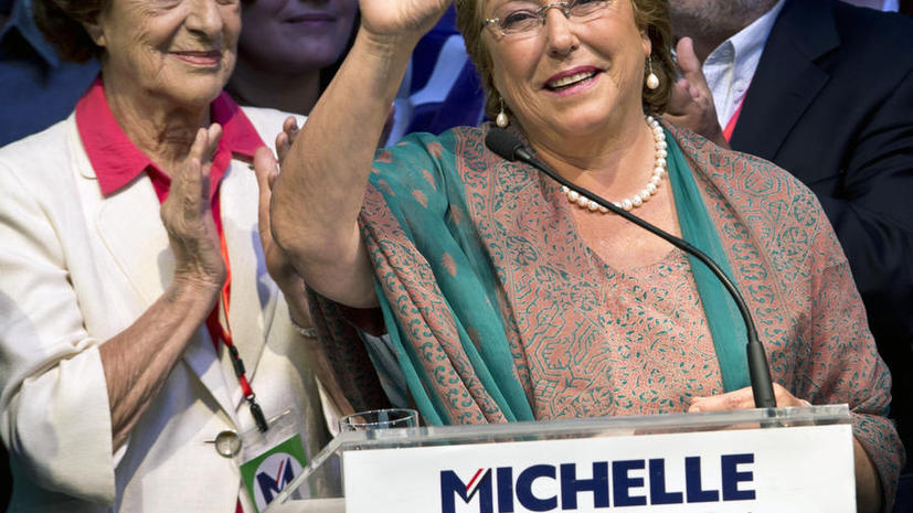 Президентом Чили во второй раз избрана Мишель Бачелет