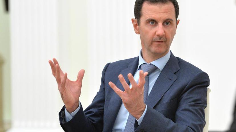 Башар Асад: Конфликт в Сирии затягивается из-за стремления стран Запада осуществить смену власти