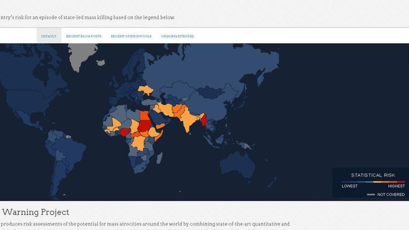 Вероятность насилия на Украине самая высокая в Европе