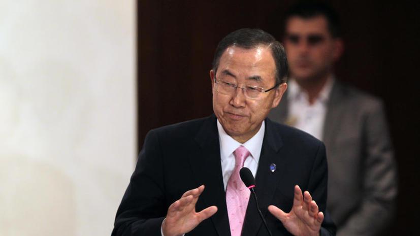 Генсек ООН: Международные эксперты взяли пробы на месте предполагаемой химической атаки в Сирии