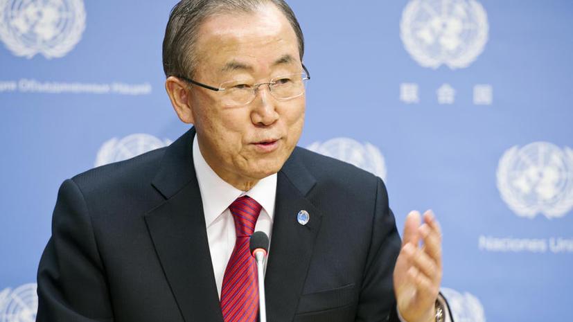 Генсек ООН:  Химатаки в Сирии должны послужить сигналом о необходимости глобального разоружения