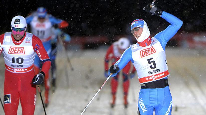Россия завоевала полный комплект наград в спринтерских гонках в Куусамо
