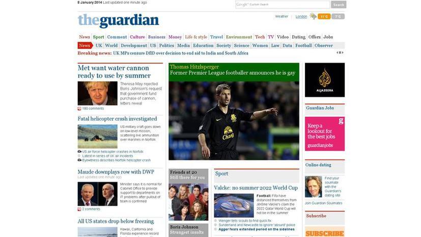 Власти Китая заблокировали доступ к сайту британской газеты The Guardian