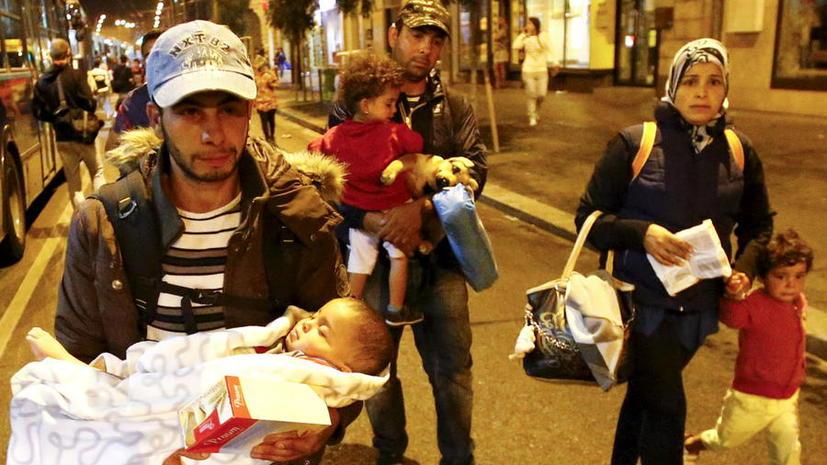 Тысячи мигрантов собрались на австро-венгерской границе
