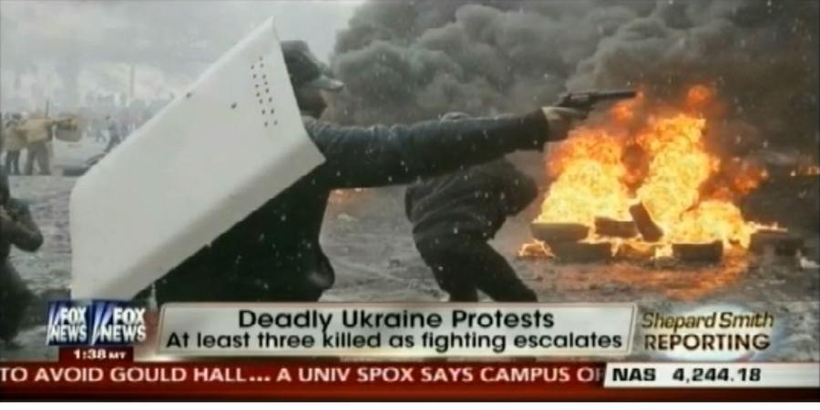 Ведущий телеканала Foxnews дважды перепутал украинских радикалов с милицией