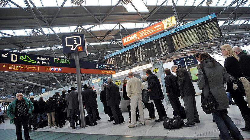 В Германии из-за забастовки отменены сотни рейсов