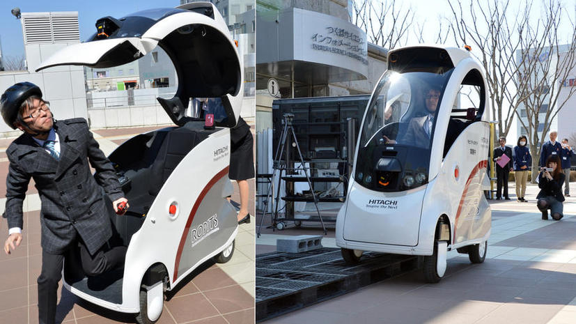 Hitachi выпустила микроавтомобиль-гаджет
