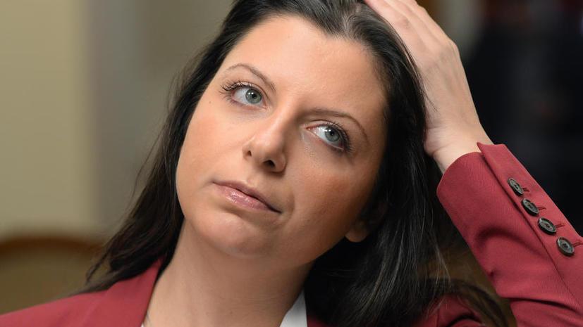 Маргарита Симоньян: Очередной арест счёта МИА «Россия сегодня» незаконный