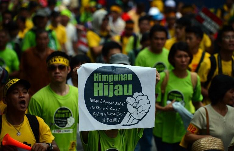 В Малайзии десятки тысяч людей устроили митинг против властей