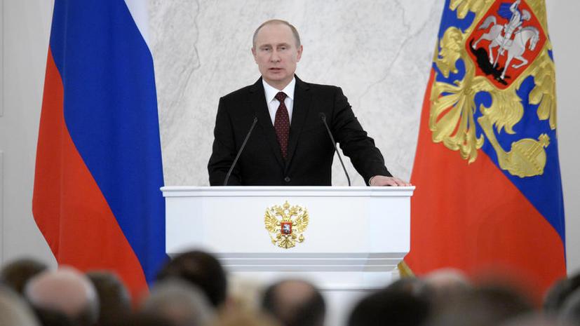 Владимир Путин выступит с внеочередным посланием Федеральному собранию по Крыму