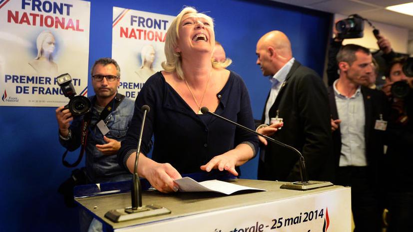 Французский Национальный фронт набрал 26% голосов на выборах в Европарламент