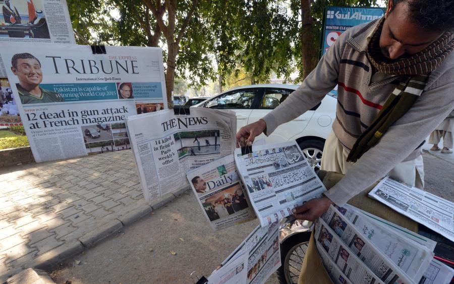 Мировые СМИ поддержали французских коллег, перепечатав скандальные карикатуры журнала Charlie Hebdo