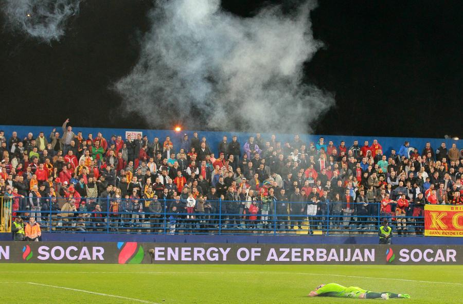 Сборной Черногории присуждено техническое поражение в матче с Россией