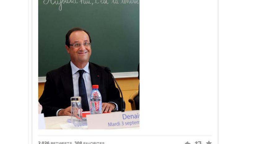 Информационное агентство удалило некорректную фотографию Франсуа Олланда