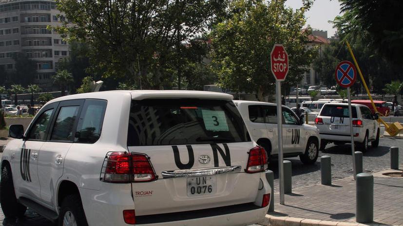 В Сирии обстреляли машину инспекторов ООН