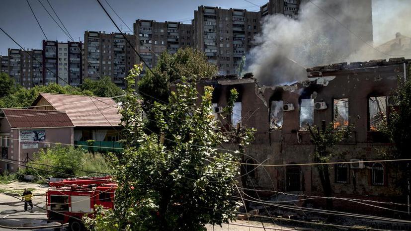 Ростовская область вновь обстреляна с территории Украины, на востоке страны продолжаются бои