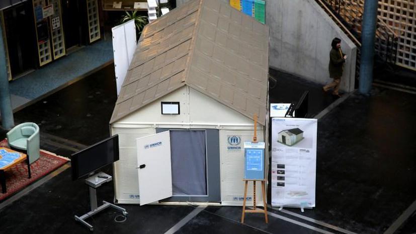 Компания IKEA разработала переносные убежища для беженцев