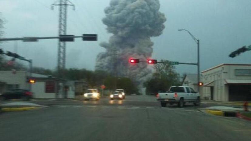 Взрыв на заводе в Техасе: фото очевидцев