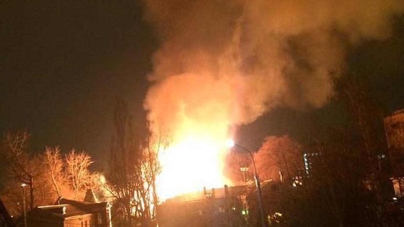 В Москве за сутки произошло четыре крупных пожара