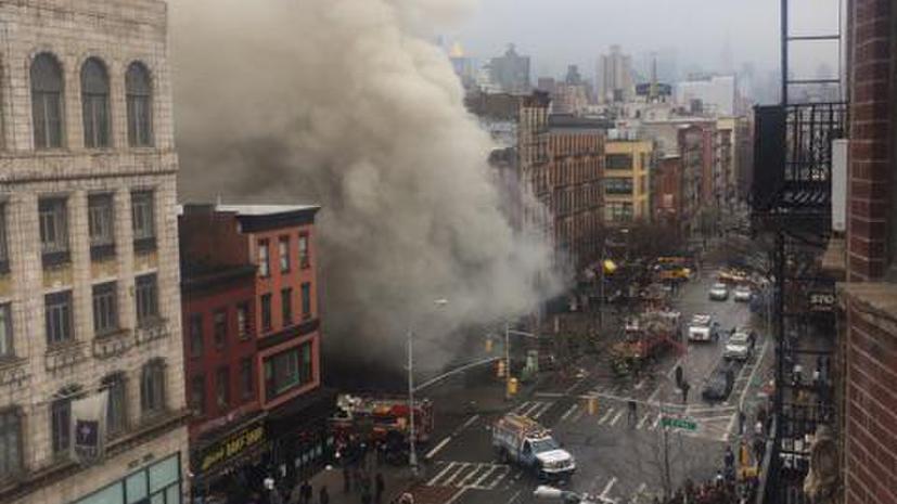 В результате взрыва и обрушения трёх зданий в Нью-Йорке пострадали по меньшей мере 19 человек