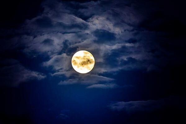 Интернет-пользователи запечатлели «суперлуние» в ночном небе