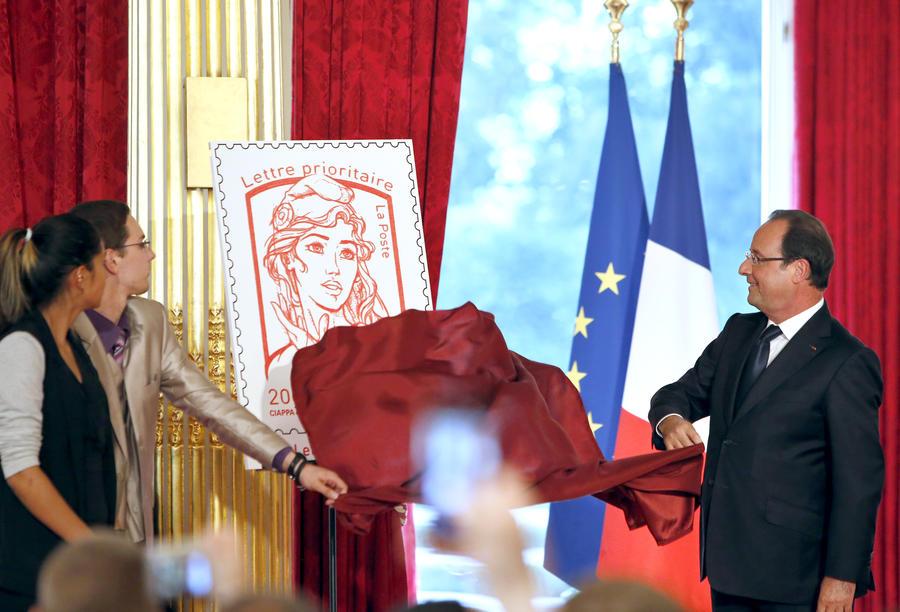 Движение FEMEN увековечат на почтовой марке Франции