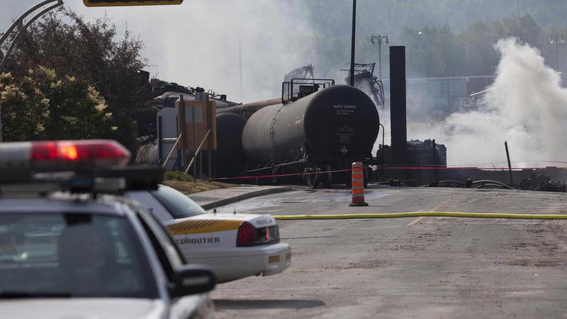 Взрыв поезда в Канаде уничтожил бар со всеми посетителями