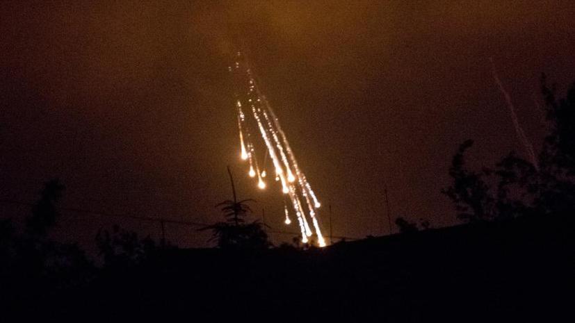Украинская армия ночью наносила удары по позициям, которые оставили ополченцы