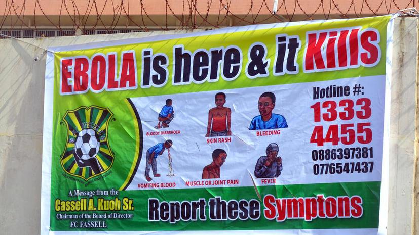 В Либерии из-за лихорадки Эбола закрывают на карантин целые районы, протестующих разгоняет полиция