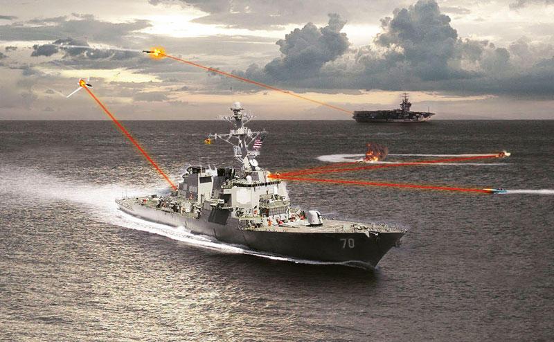Американские военные моряки готовы идти в бой с лазерным оружием
