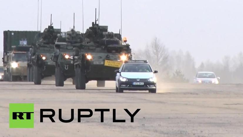 «Танки? Нет, спасибо!»: жители Чехии устроили акцию против перемещения военной техники НАТО