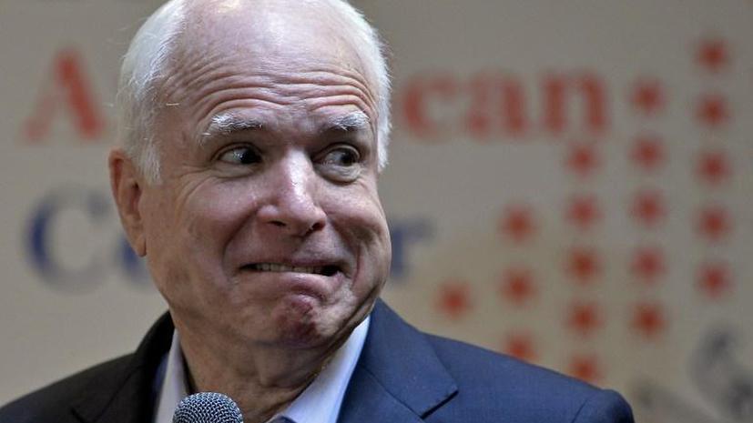 Речь сирийки поставила сенатора Джона Маккейна в тупик