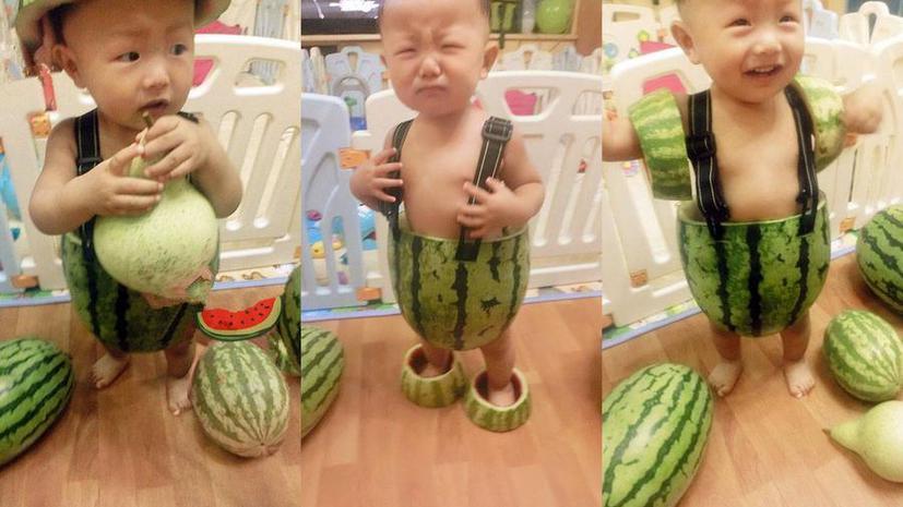 Китайские модельеры одели детей в арбузные корки