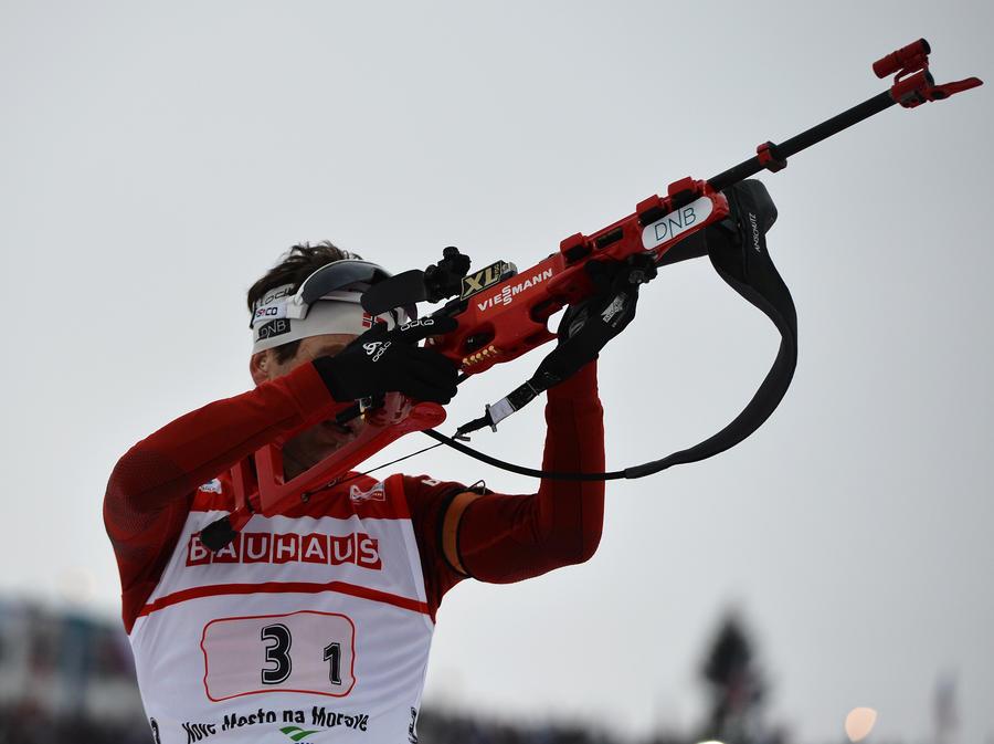 Норвежец Уле-Эйнар Бьорндален стал 7-кратным олимпийским чемпионом по биатлону