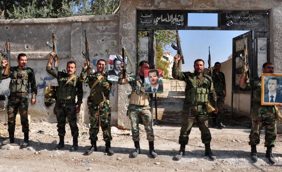 Сирийские правительственные войска освободили от боевиков ряд пригородов Дамаска