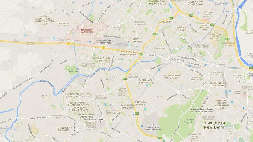 Крупный пожар уничтожил сотни домов в одном из районов Нью-Дели