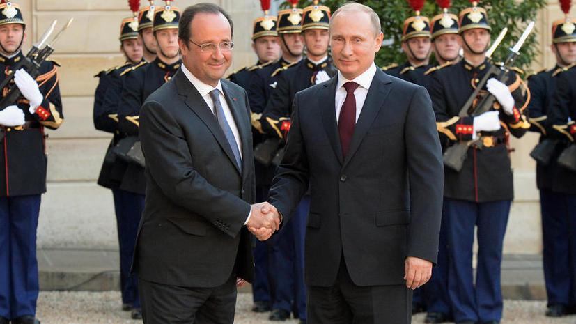 Владимир Путин и Франсуа Олланд на встрече в Париже подробно обсудили ситуацию на Украине