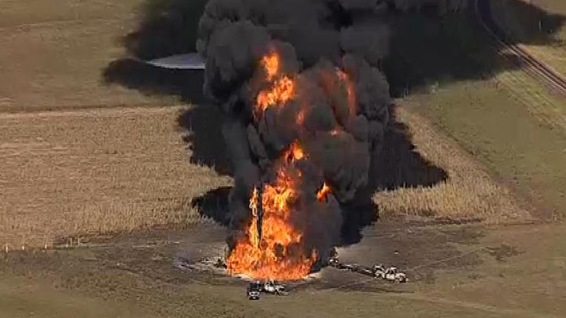 В штате Техас взорвался газопровод, идет эвакуация города