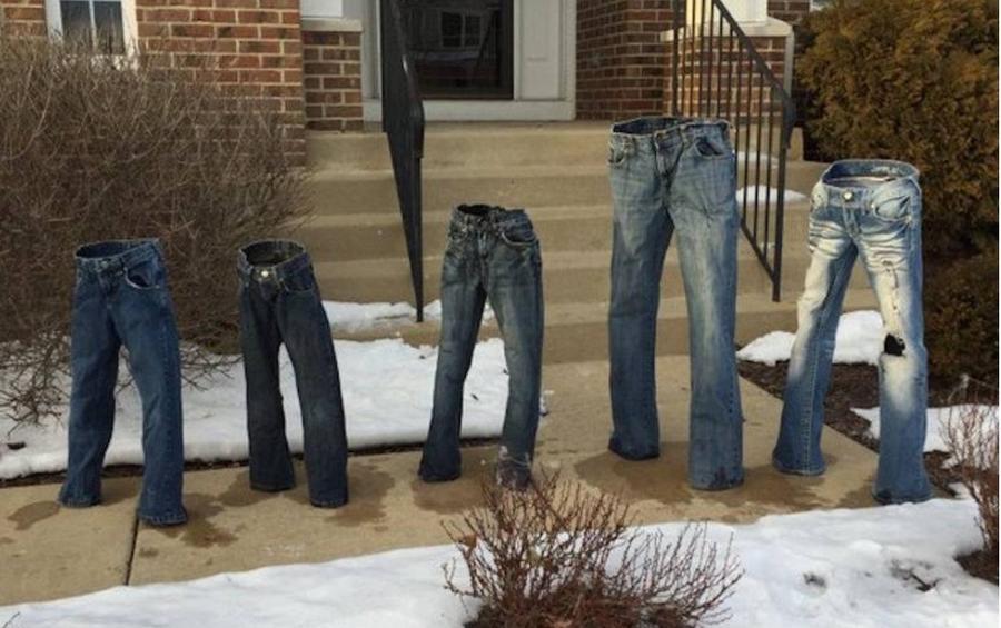 #FrozenPants: Сильные снегопады в США привели к появлению в интернете моды на «замороженные штаны»