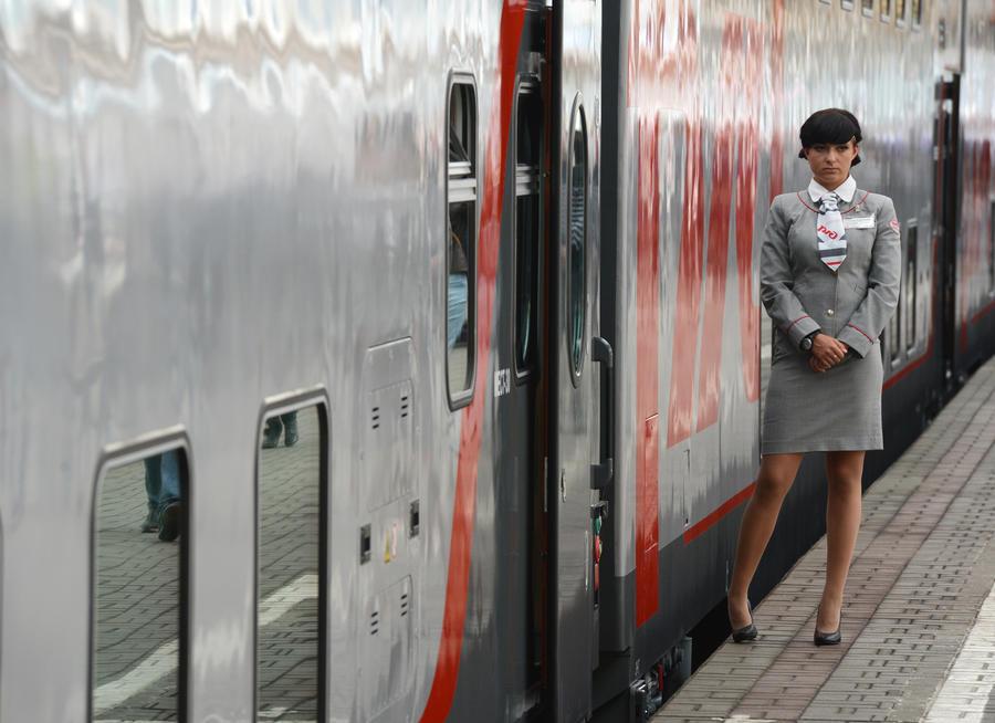 Двухэтажный поезд «Москва - Адлер» отправился в первый рейс