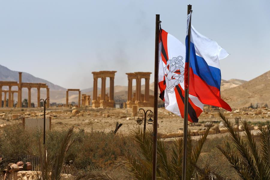 Фото: российские сапёры продолжают работы по разминированию Пальмиры