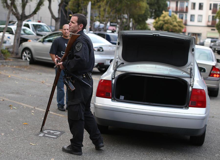 Американец превратил полицейский автомобиль в уборную