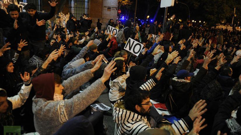 Протесты в Испании: Рождества не будет
