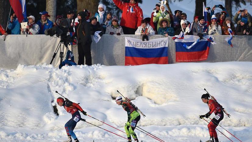 Команда Норвегии победила в олимпийской биатлонной смешанной эстафете