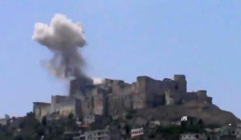 Замок крестоносцев в Сирии поврежден в результате авиаудара