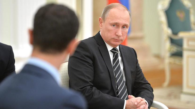 Владимир Путин по телефону обсудил с Башаром Асадом перемирие в Сирии