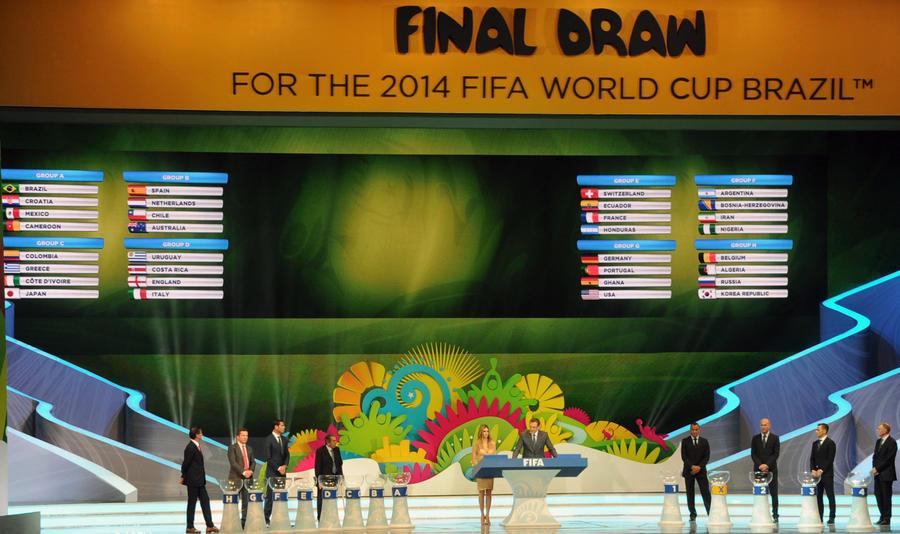 Жеребьёвка ЧМ-2014: Россия сыграет с Бельгией, Алжиром и Южной Кореей