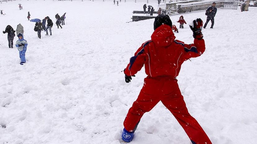 За игру в снежки бельгийцев оштрафуют на €100