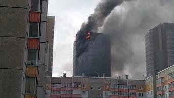 МЧС: Пожар в высотном жилом здании Красноярска ликвидирован